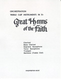 Great Hymns of Faith Hymnal (Bb Book Trb Clef)